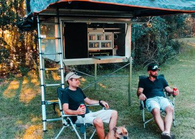 Traymate Canopy camper setup
