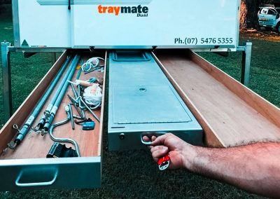 Traymate Aluminium Underbody Storage and External Kitchen Bench