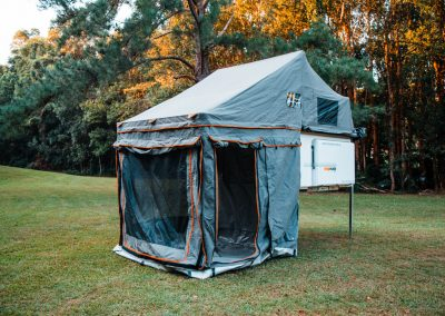 Traymate Aluminium Canopy Camper - Setup with Canvas Annex Walls