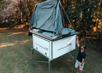 Opening Queens Sized Rooftop Tent - Traymate Camper Base 1